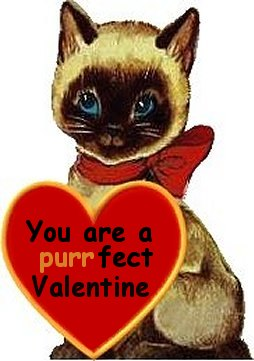 Vintage Siamese Valentines From Black Tan Siamese